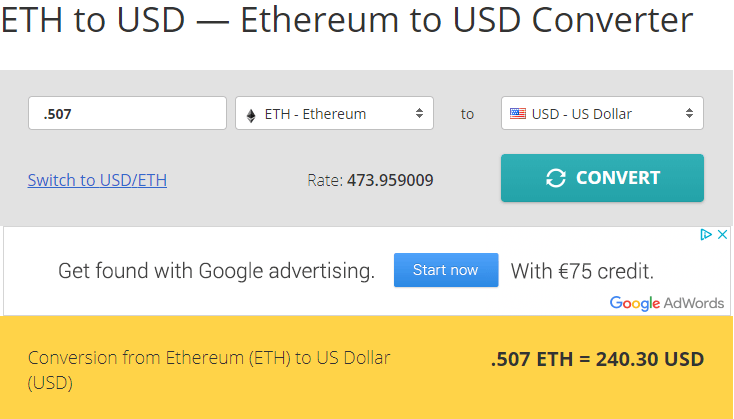 eth to usd